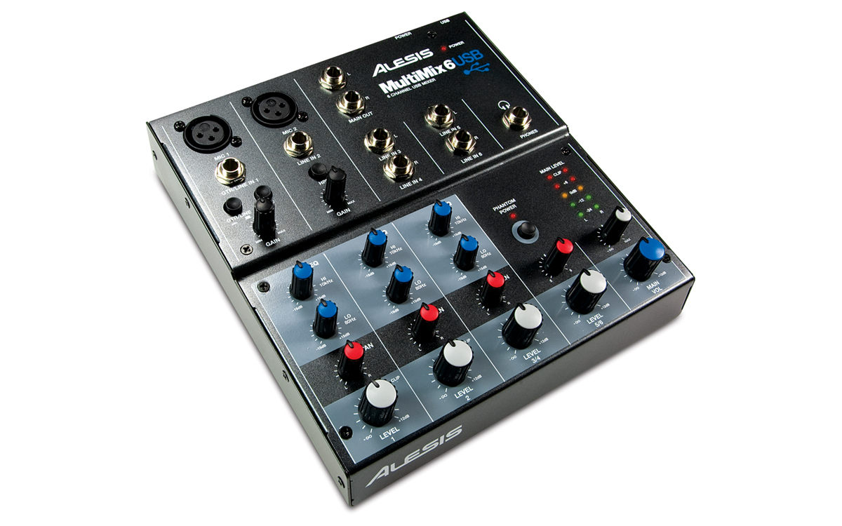 Alesis Multimix 6 USB kompakt mixer és audio interfész