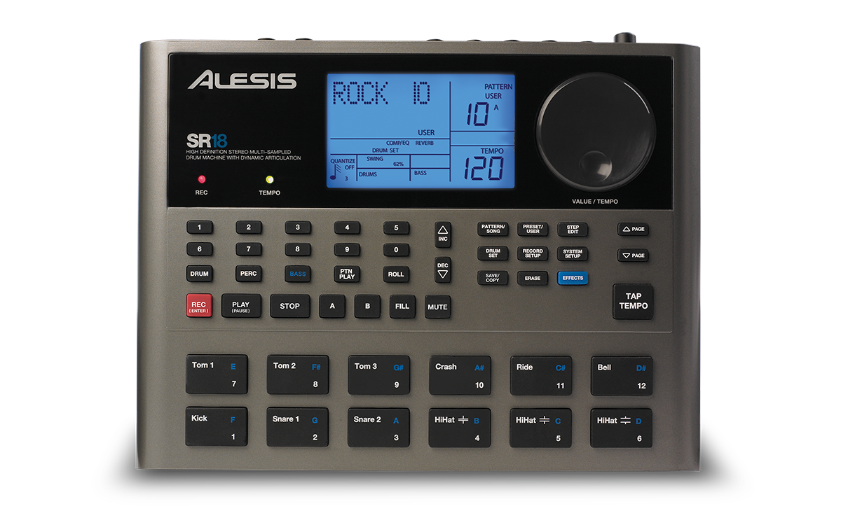 alesis sr18Free Microcontroller And Interface Programming Electronic Midi Drum #13
